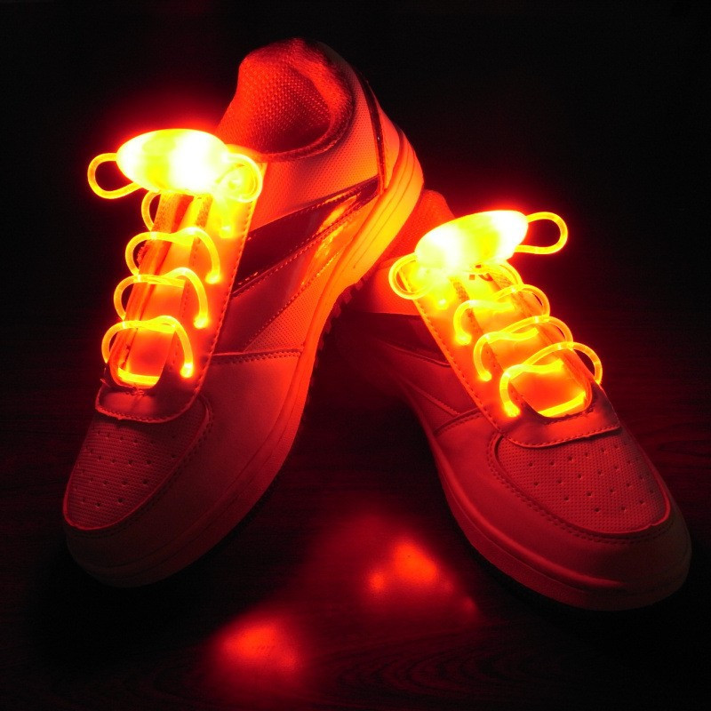 Cool Fashion Light up LED Shoelaces Flash Party Skating Glowing Shoe Laces for Boys Girls Fashion Luminous Shoe Strings