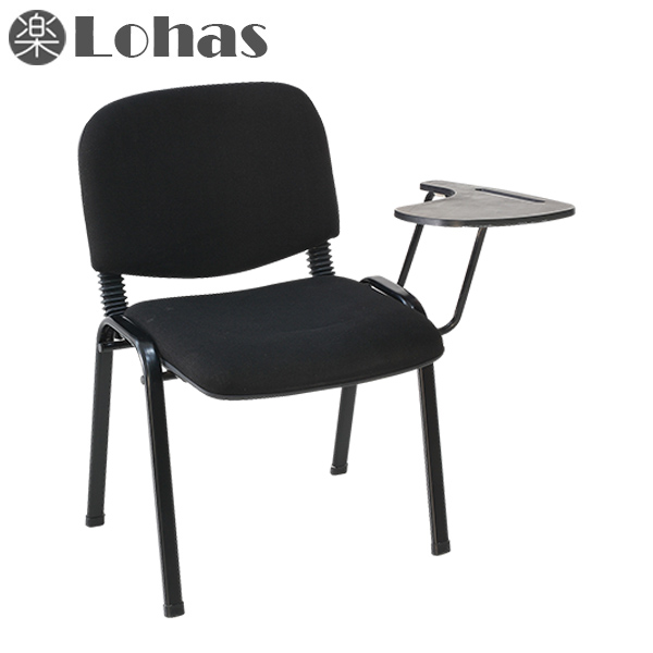 Student chair with writing pad stackable conference chair