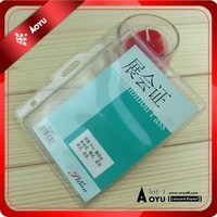 11.5*9.5cm cheap soft pvc plastic name badge holder China wholesale(have different type)