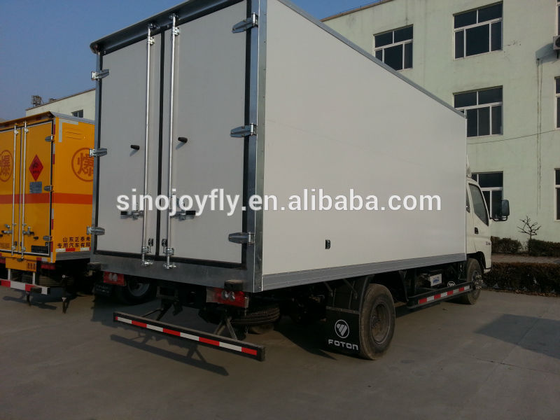 light reefer truck body box truck side door