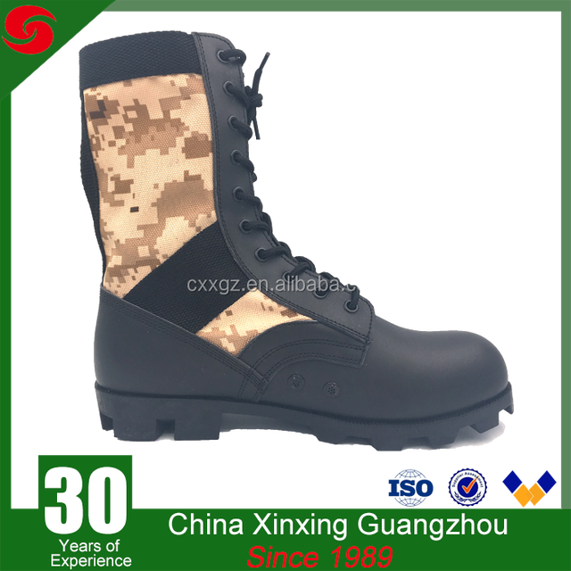Desert/woodland camouflage boots military shoes jungle boots