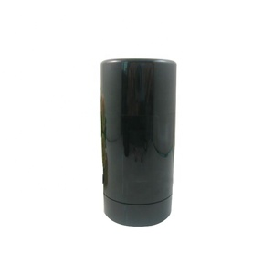 Hot selling black color 30ml round twist up deodorant container pull top
