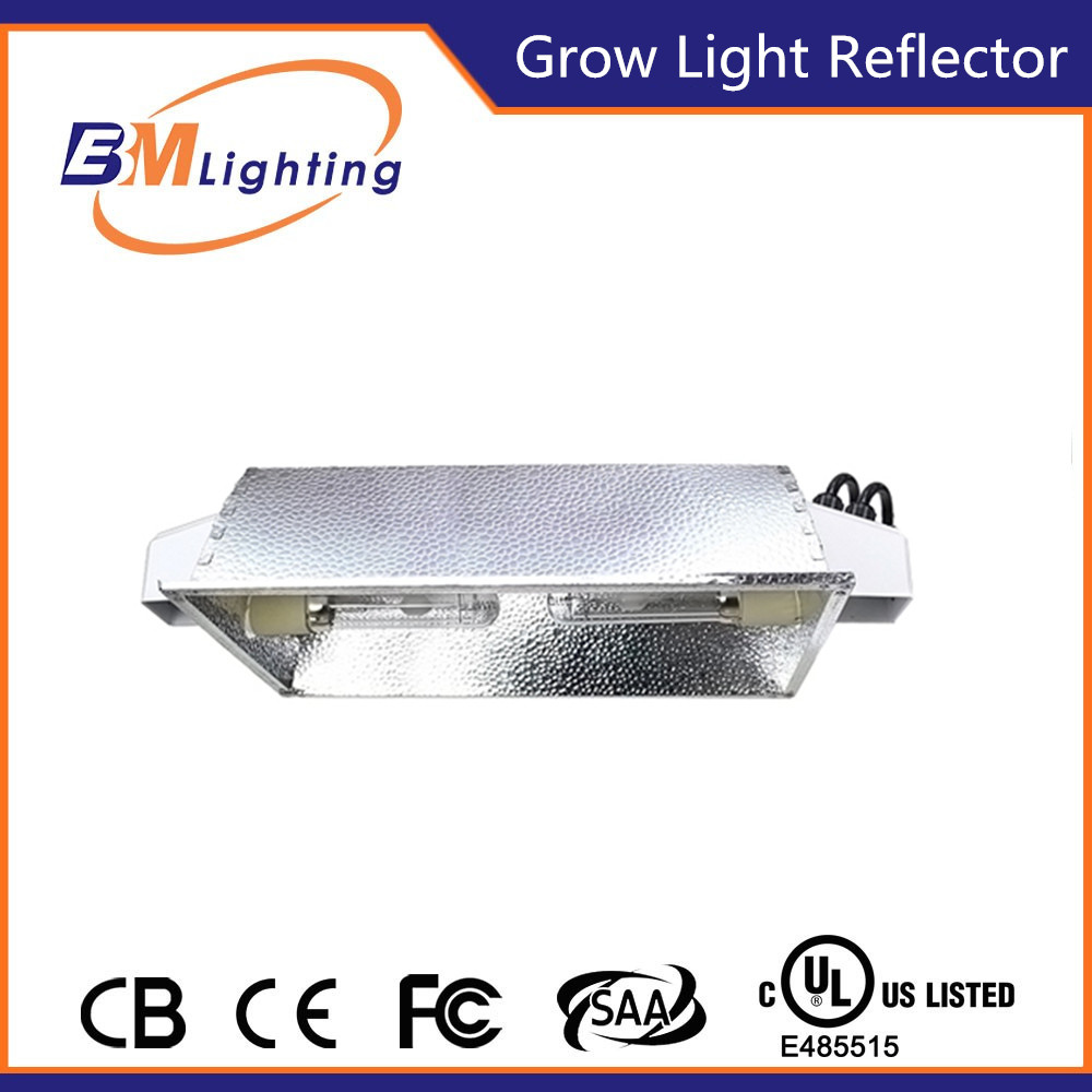 highly reflective aluminum double ended reflector for 630 de lamp and 2x315 cmh lamp