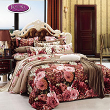 Super soft 100% cotton quilt cover bedding set rose print fancy designer bed sheets