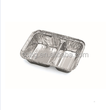 compartment disposable aluminium foil container takeaway bento box meal box