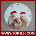 2017 hot new decoration for stylish family wall clock for heating print