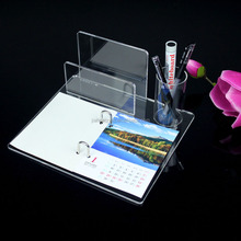 Organic glass OEM/ODM manufacturer custom clear acrylic 2016 calendar stand with printing calendar wholesale