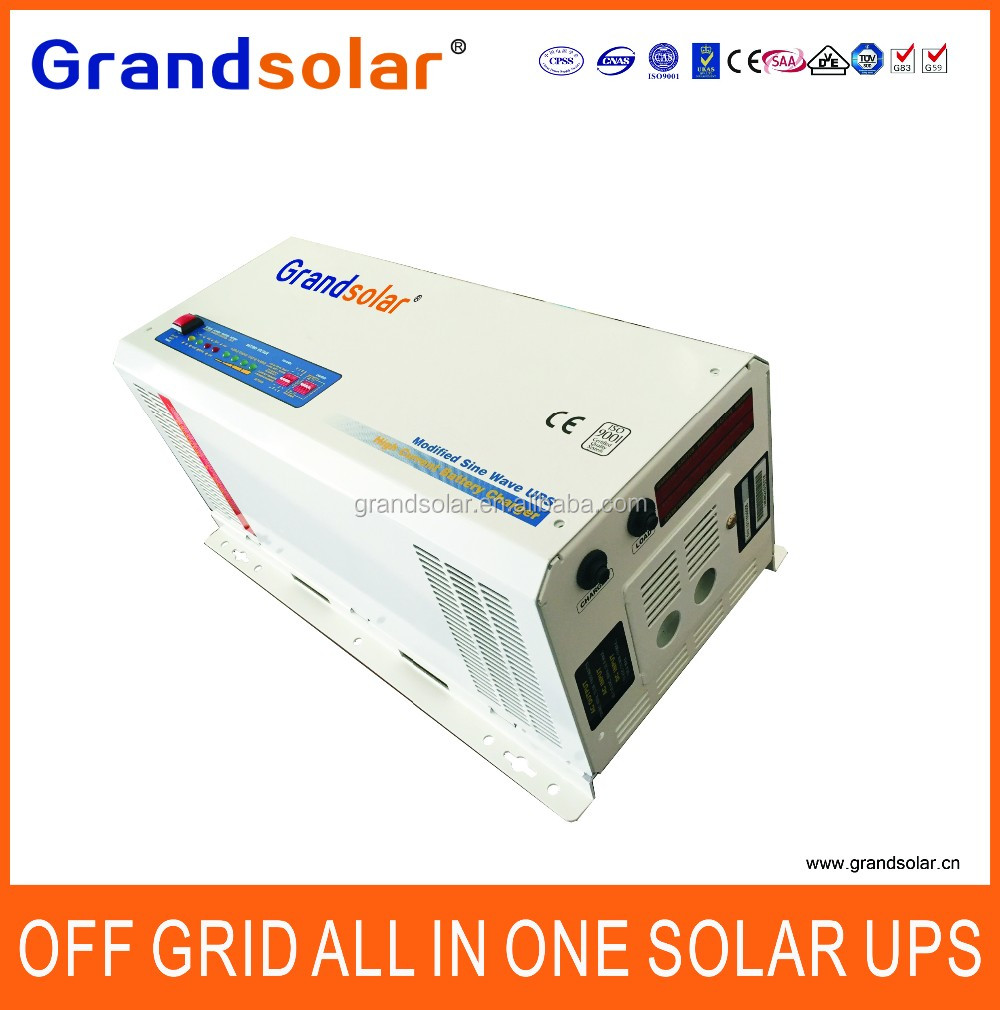 GRANDSOLAR RELIABLE OFF GRID 2000W UPS POWER INVERTER WITH BUILT-IN BATTERY CHARGER DC TO AC