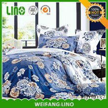 fashion bule color dyed four pieces 133*72 new bed sheet design