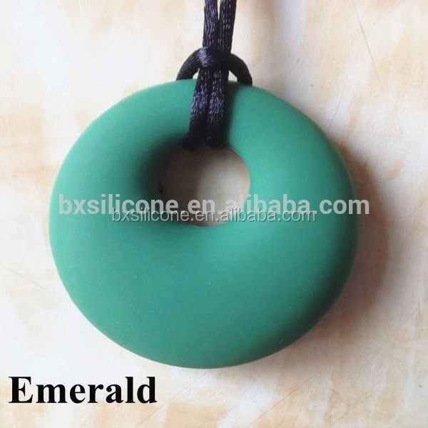 Fashionable most popular baby teether natural fda silicon pendant