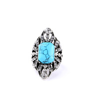 Gold Simple Women Wholesale Fashion Turquoise Silver Ring