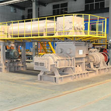 Double stage vacuum extruder automatic competitive hollow clay brick forming machine