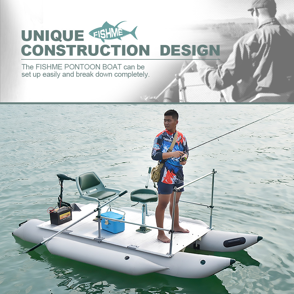 High Quality AQUOS Fishme 380 Inflatable Pontoon <strong>Boat</strong> Design for Fishing