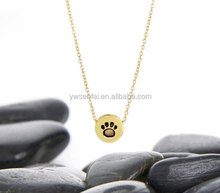 Best selling handmade engraved paw print charms custom zinc alloy antique gold plated dog charms for necklace