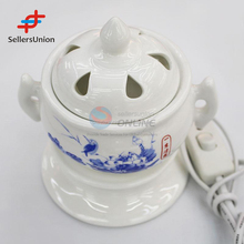 No.1 Yiwu agent commission sourcing agent Vintage White Ceramic Electrical Incense Burners