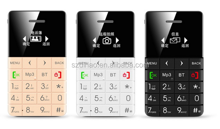 DIHAO Card Phone Mini GSM Mobile Phone Backup Phone With Micro SIM Slot For Android and iOS Smartphones Credit Card Size