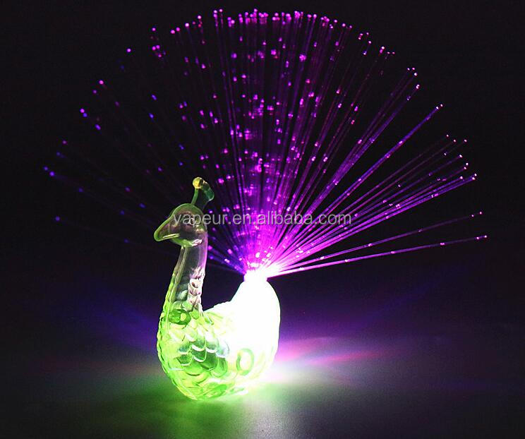 LED Toys LED peacock Finger Lights with peacock Ring