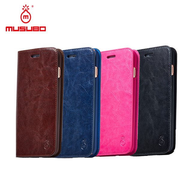MUSUBO Import Mobile Phone Accessories Flip Cover Leather Cell Phone Case for Samsung Galaxy S6 Case