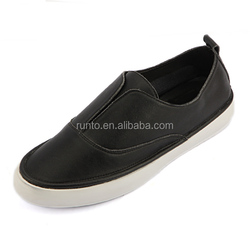 Fashion footwear skateboard shoes calf leather girl loafer shoes european trendy leather casual shoes for ladies