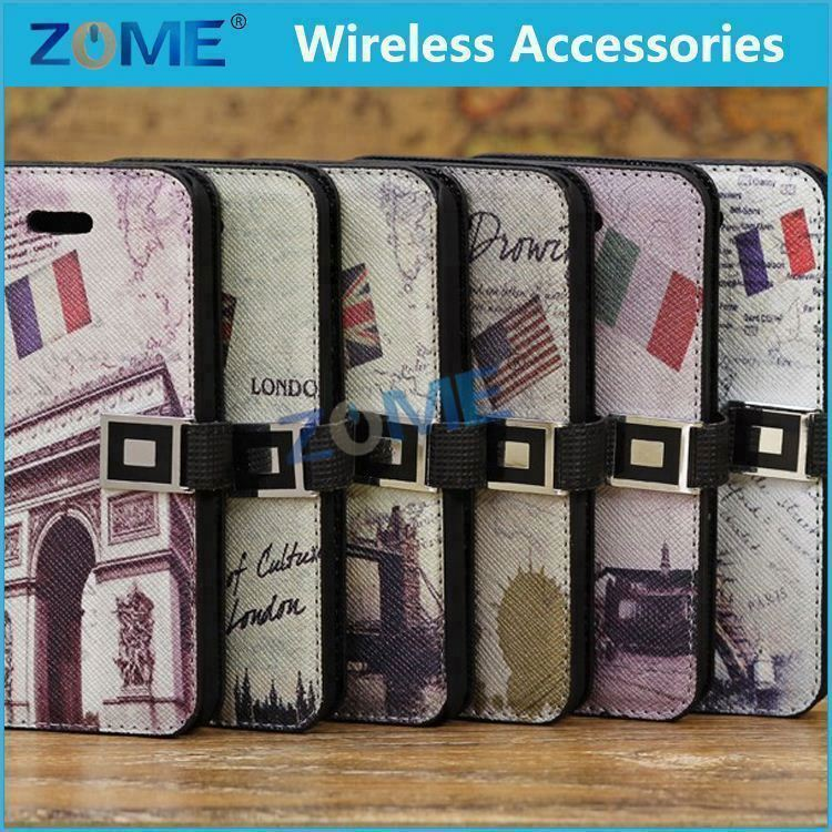 For Good Quality Colorfu Leather Case For Iphone 5C Popular Mobile Phone Case Shell