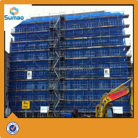 Blue plastic hdpe scaffold safety net