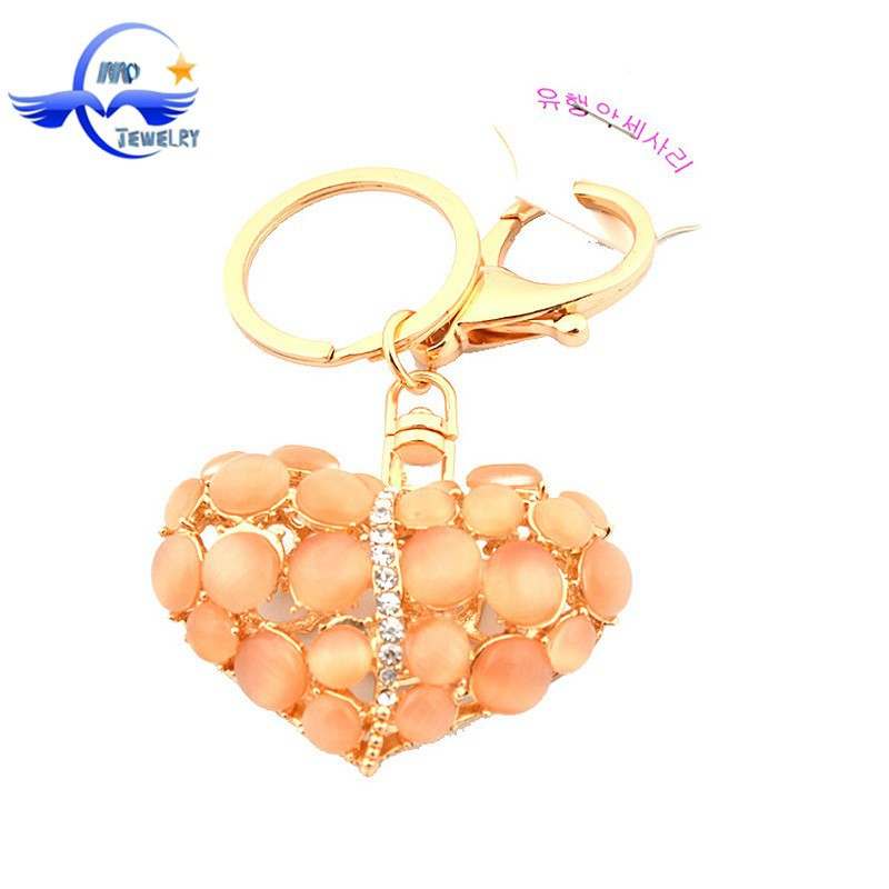 Wedding Thank you Gifts for Guests Keyring Love Heart Keychain for Couple Women Bag Charms