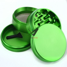 industrial wholesale FREE custom herb grinder, 2.5 inch 4 part cnc anodized aluminum grinder