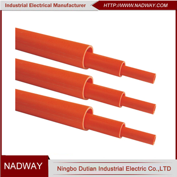 Australia HD orange pvc electrical conduit pipe