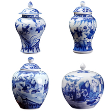 Chinese Factory Hot Sale wide mouth jar wholesale blue and white porcelain ginger jars wax <strong>container</strong> with best service low price