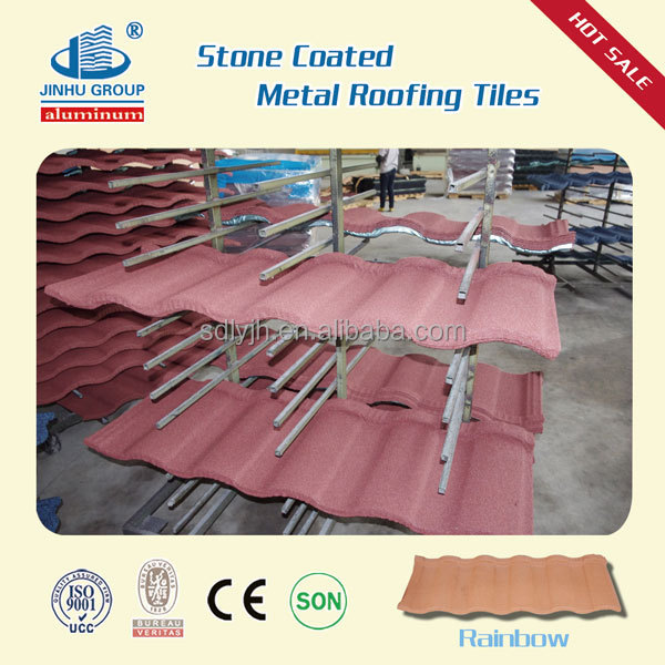 New building material on China market stone coated metal roofing tiles