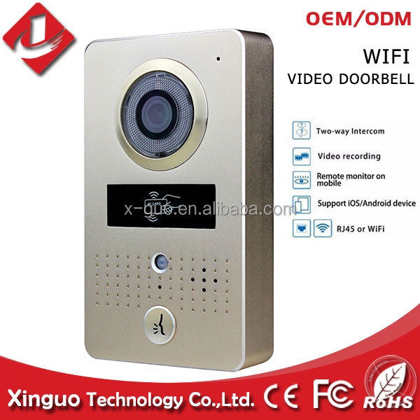 smart home wifi video door bell wireless video door phone with android