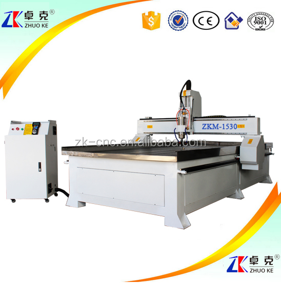 Cheap Price Wood Metal CNC Carving Machine ZKM-1530 1500*3000MM Stepper Motor 5.5 KW Water Cooling Spindle Mach3 Controller