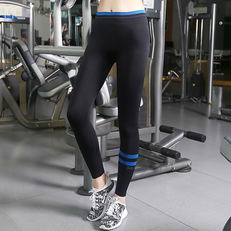 New women slim stretch yoga sports pants ladies fitness leggings trousers