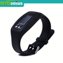 calorie pedometer watch with wristband ,h0teu silicone band pedometer watch