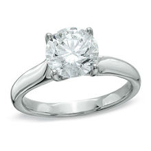 1-1/2 CT. Certified Canadian Diamond Solitaire Engagement Ring in 18K White Gold (I/SI2)