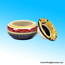 "5.5"" Colorful Covered Ashtray"