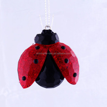 Small Size Ladybug with Opening Wings Ornament 01501013 new style indoor decoration