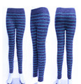 Sexy yoga pant fashion seamless striped sport pant