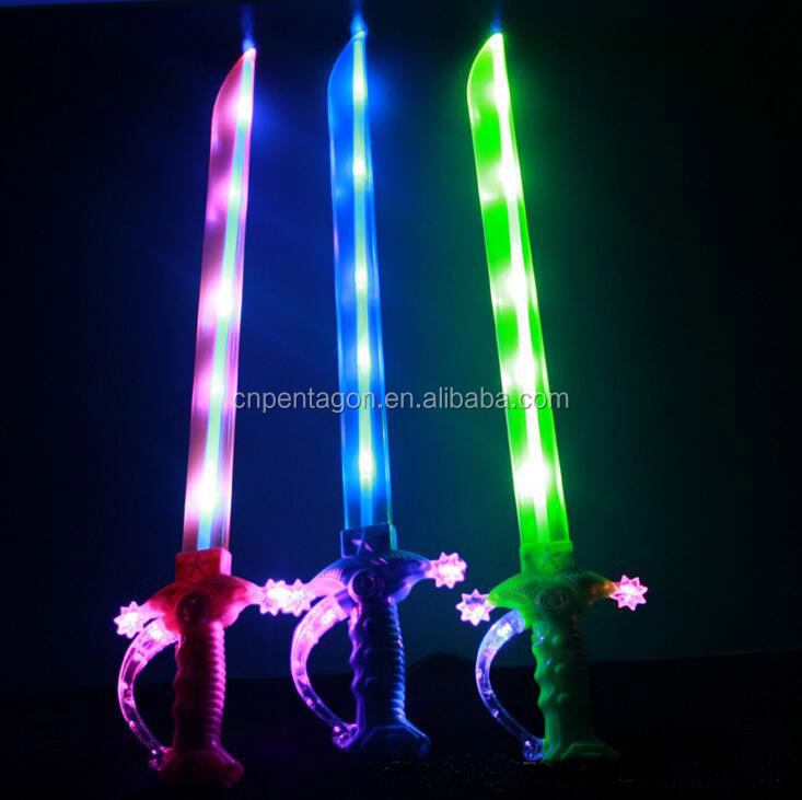 Promotional Light up Led Flashing Plastic Swords toys