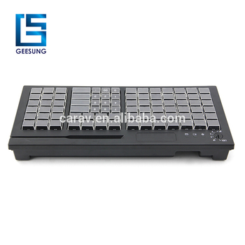 Factory Price 84 Keys Russian Pos Programmable Keyboard with IC Card Reader