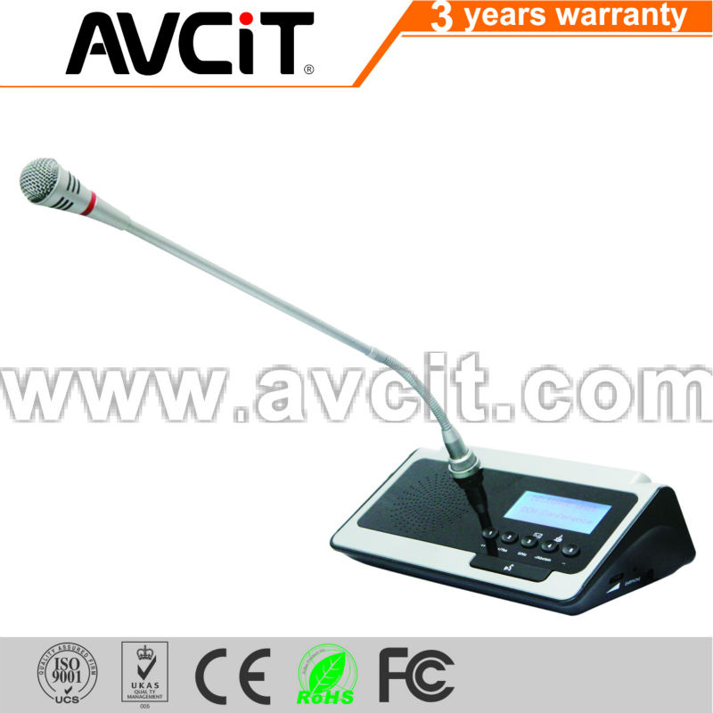 Teleconferencing Microphones Delegate Unit With Voting