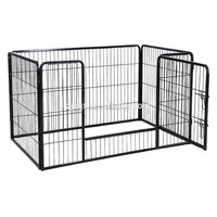 Small Puppy Play Pen Grey Enclosure Cage