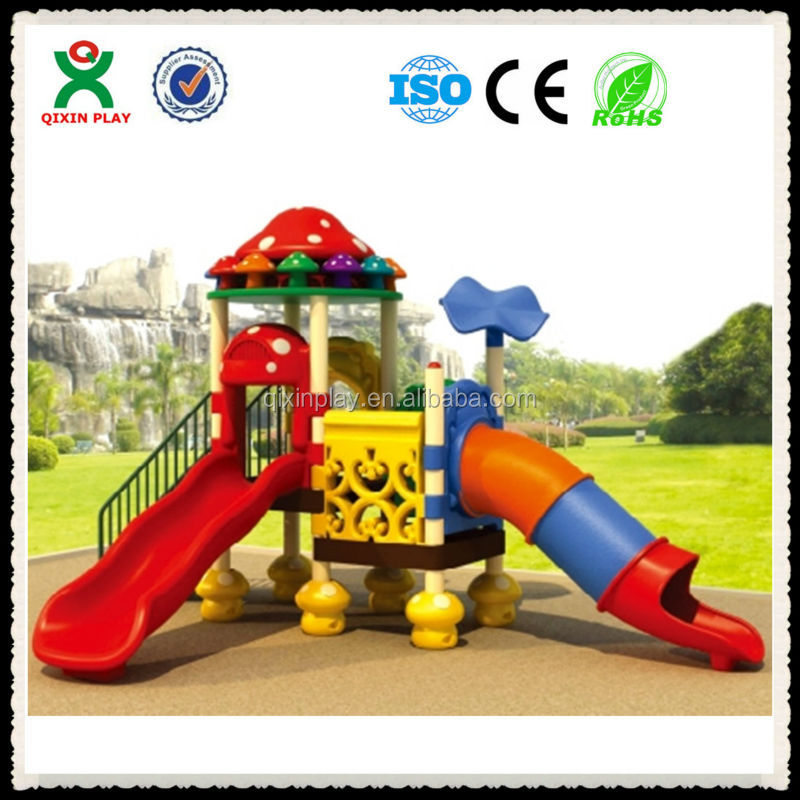 Outdoor playground safety pre school games swings and slides group games for youth QX-070C