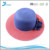 Wholesale cheap price two colors lady wide brim paper straw hat with big flower
