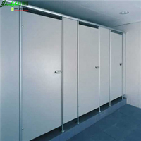 Waterproof HPL bonded PVC board toilet cubicle partitions