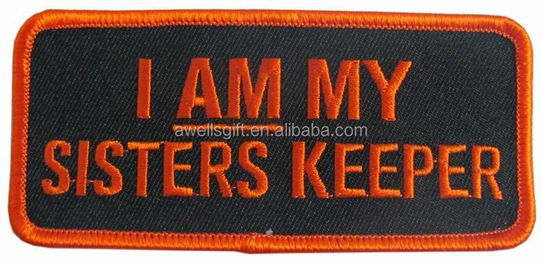 I Am My Sisters Keeper Iron On Biker Patch