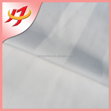 Polyester cotton plain white satin stripe fabric for hotel bedding sets