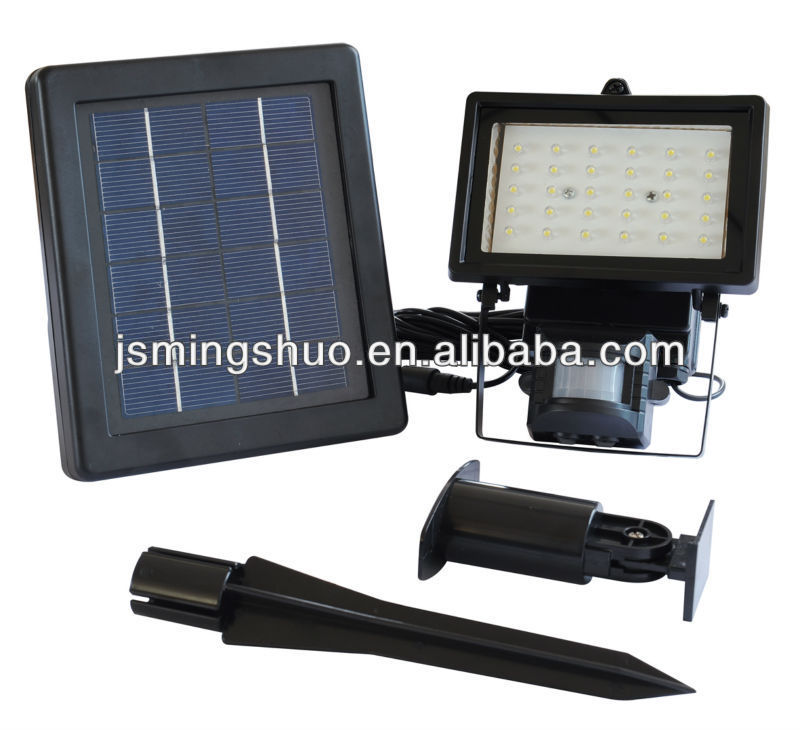 6V 2W solar light, solar led light with motion sensor detector