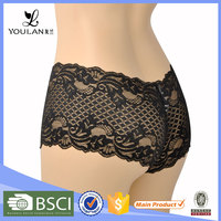 beautiful black new arrival custom service hot lace ladies panty brand names panty