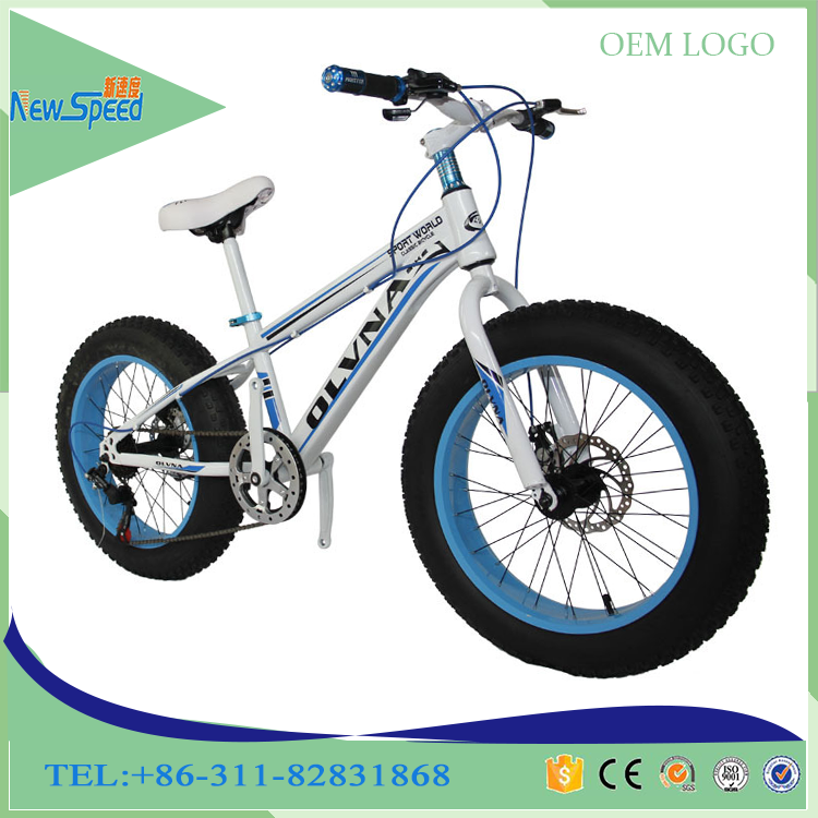 Chinese factory direct sale Sport style Fat Tire Bikes with Disc Brakes/top sell Paint color7speed snow bike,White
